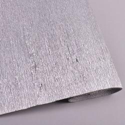 креп бумага металлизированная 50*2.5 м серебристая - 802