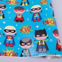 """бумага для упаковки """"супергерои"""" 70см * 2м"""