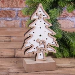 елочка с LED подсветкой деревянная
