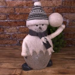 """Статуэтка с led подсветкой """"снеговик большой 53см"""" в кристалах"""