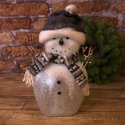 """Статуэтка с led подсветкой """"снеговик 33см"""" в кристаллах"""