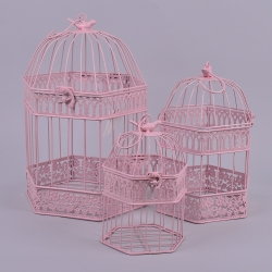 Декоративные клетки 6-угольные набор 3 шт (розовые)