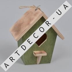 скворечник декоративный деревянный (зеленый)