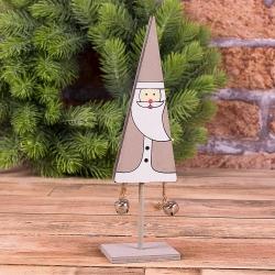 """деревянная статуэтка """"дед мороз с колокольчиками"""""""