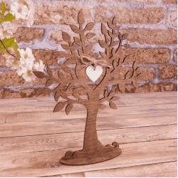 декор - дерево коричневое с сердцем