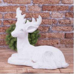 керамическая статуэтка олень гигант лежачий