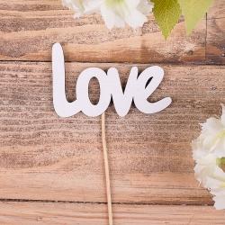"деревянная надпись на палочке ""Love"""