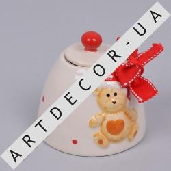 керамическая сахарница с медвежонком