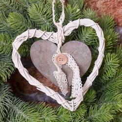 Сердце деревянное подвесное