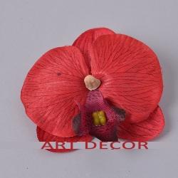 головка орхидеи мал. красная