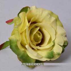 """Головка розы """"аква"""" желто-зеленая"""