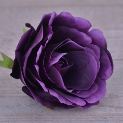 """Головка розы """"аква"""" темно фиолетовая #21"""