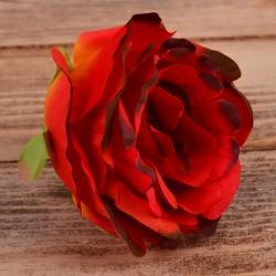 """Головка розы """"аква"""" оранжево-красная (dk.orange)"""
