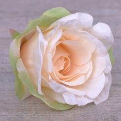 """Головка розы """"аква"""" светлый персик (peach-green)"""