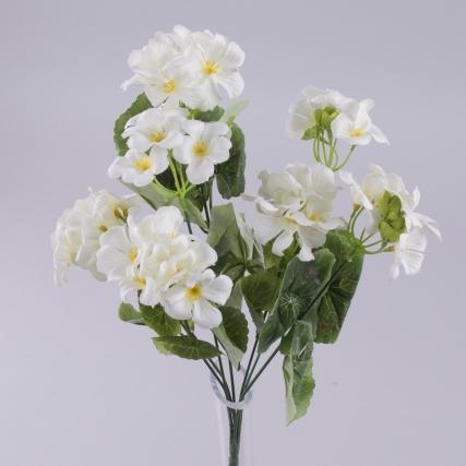 букет искусственной пеларгонии малый белый