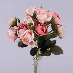 букет бутончиков ранункулюса миник (пудрово-розовый)