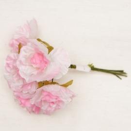Букетик мини розы 6 шт светло розовый