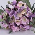 букет гортензии с плющом фиолетовый
