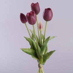 """букет тюльпан """"полуоткрытый"""" латекс бордово- фиолетовый"""