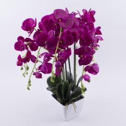 орхидея латексная в кашпо гигант (фиолет)
