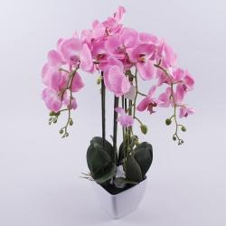 орхидея латексная в кашпо гигант (розовая )