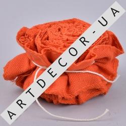 лента из ткани сжатая оранжевая