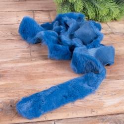 лента из меха 4 * 150 см (синяя)