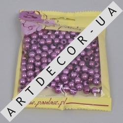 бусинки средние фиолетовые
