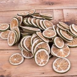 Апельсины сушеные для декора зеленые 200гр.