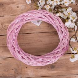 Венок из лозы 25см розовый