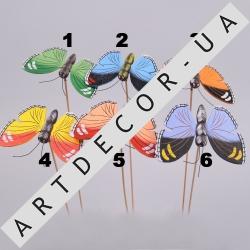 бабочки деревянные на палочке