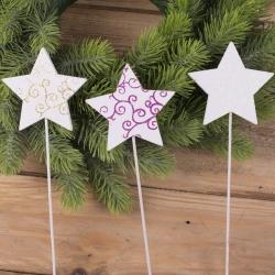 декор новогодний на палочке (звезды)