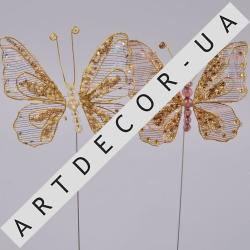 бабочки из бисера на палочке