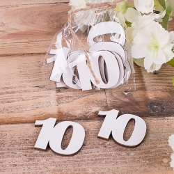 "деревянный декор ""цифра 10 """