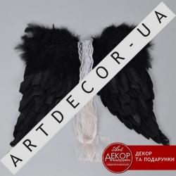 крылья из перьев черные