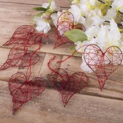 сердце с проволоки (6 шт)