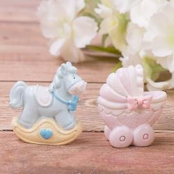 """статуэтка супер мини """"лошадка + коляска"""""""