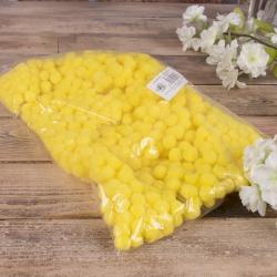 помпоны декоративные маленькие 1,5 см (желтые)