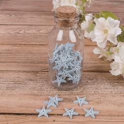 морской декор в бутылке - звезда