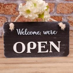 """табличка двухсторонняя """"open closed"""" купить. Таблички открыто закрыто из дерева Украина"""