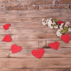 декоративная гирлянда - сердечки