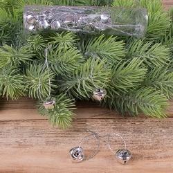колокольчики металлические серебро (20 шт)