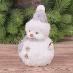 """подвеска-статуэтка мягкая """" снеговик"""""""