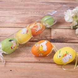 Яйца в тубусе с зверятами 6 шт