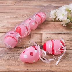 Яйца в тубусе 6 шт розовые