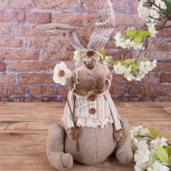 Заяц тканный стоппер (девочка)