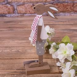 заяц в шарфике с красными горохами (большой)