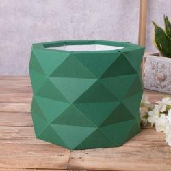 """коробка """"многогранная, размер """"М"""""""" зеленая"""