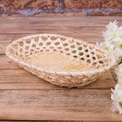 Поднос из бамбука овальный
