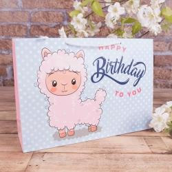 "(W4-70) пакет 25*36*10 ""happy birthday to you"""